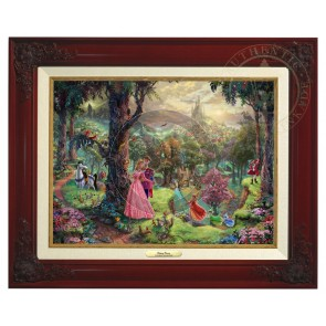 Kinkade Disney Canvas Classics: Sleeping Beauty (Classic Brandy Frame)