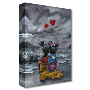 Treasures on Canvas: Mickey and Minnie Forever Love by Jim Warren