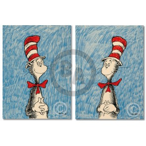 The Cat's Debut - Left Right Matched-Numbered Suite by Dr. Seuss