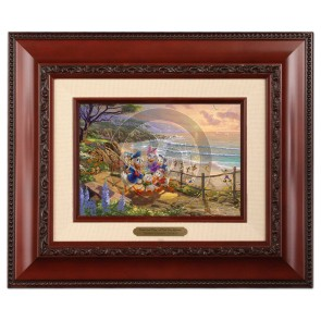 Kinkade Disney Brushworks: Donald and Daisy - A Duck Day Afternoon (Classic Brandy Frame)