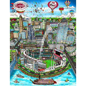 2015 MLB All-Star Game: Cincinati by Charles Fazzino