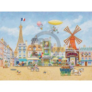 Paris En Avril by Kirk Mueller (Canvas)