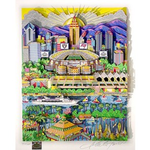 Super Bowl XXXVII: San Diego by Charles Fazzino (Regular)