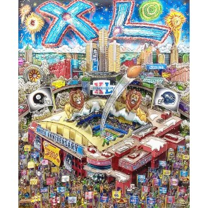 Super Bowl XL: Detroit by Charles Fazzino