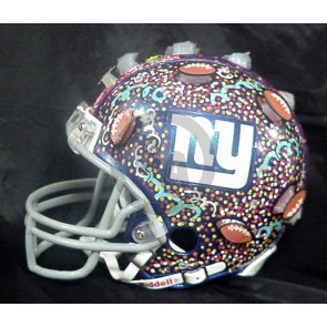 Mini Hand Painted Football Helmet by Charles Fazzino