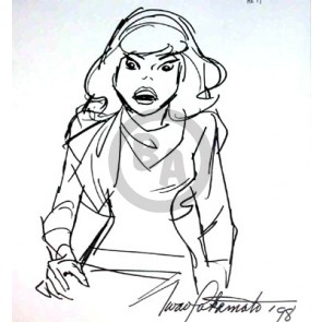 Original Daphne Drawing: Angry Daphne Signed Iwao Takamoto (5156)