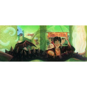 The Harry Potter Book Cover Art Series: Harry Potter and the Goblet of Fire