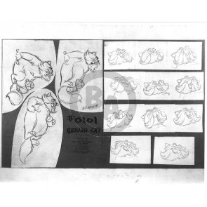 Aristocats Photostat Model Sheet: Russian Cat (8017)