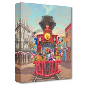 Treasures on Canvas: All Aboard Engine 25 by Manuel Hernandez