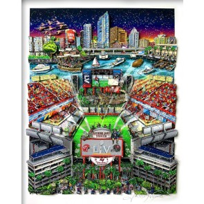 Super Bowl LV: Tampa Bay by Charles Fazzino