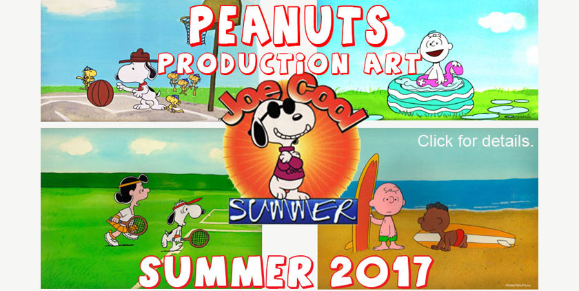 PEANUTS Original Production Art: Summer 2017